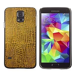 TopCaseStore / la caja del caucho duro de la cubierta de protección de la piel - Texture Material Brown Faux Art Random Modern - Samsung Galaxy S5 SM-G900