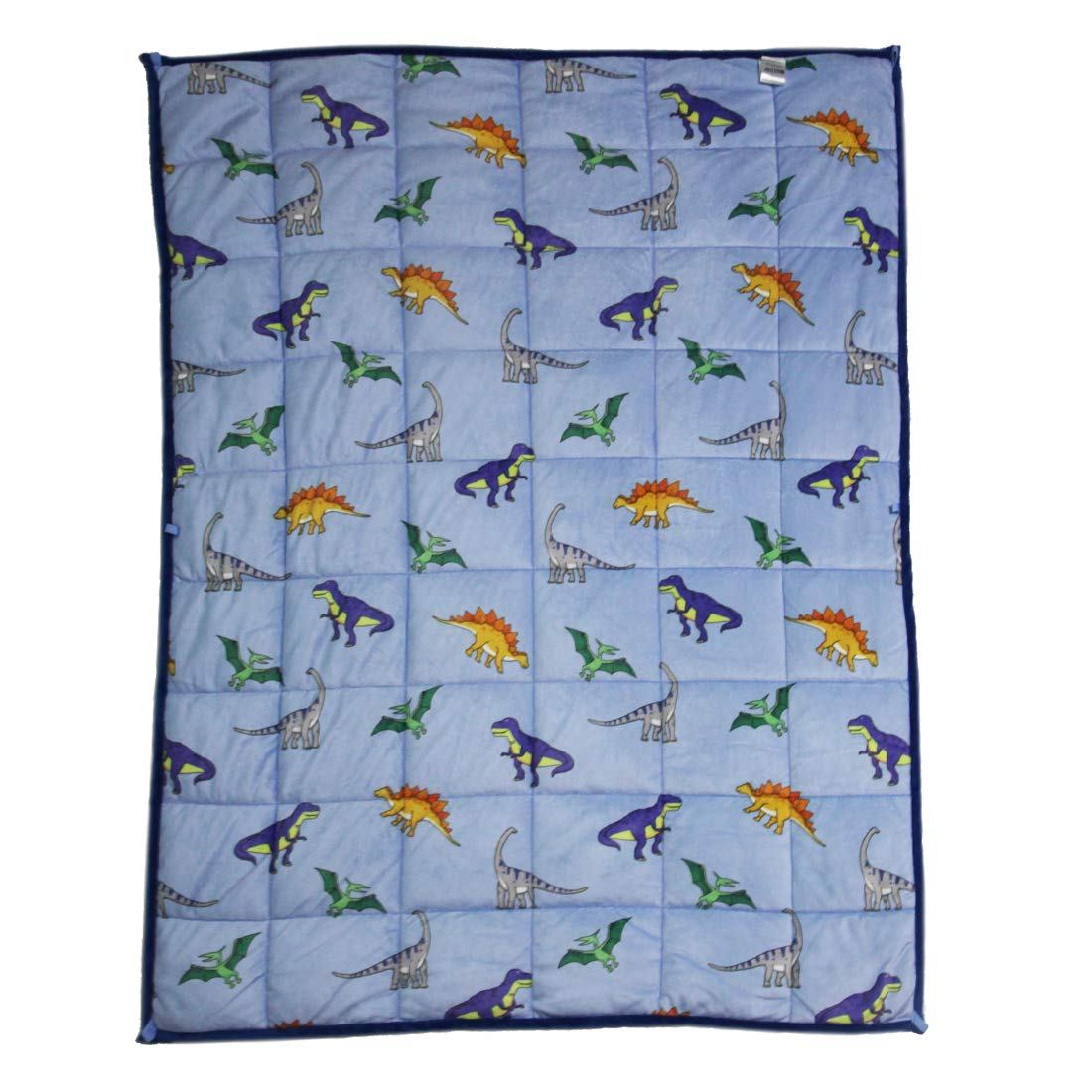 MAXTID Weighted Blanket for Toddler 3lb Blue Printed Dinosaur Weighted Sensory Blanket Gift for Baby Boys 36x48 by MAXTID