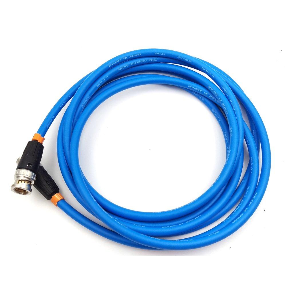 blue MCCAMSTORE SDI Video Cable Neutrik BNC to BNC Coiled Cable SmallHD BNC Cable Canare SDI Cable 50cm - 19.7in