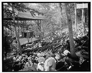Photo: Rustic theater,open-air productions,crowds,Riverton Park,Portland,Maine,ME,1900
