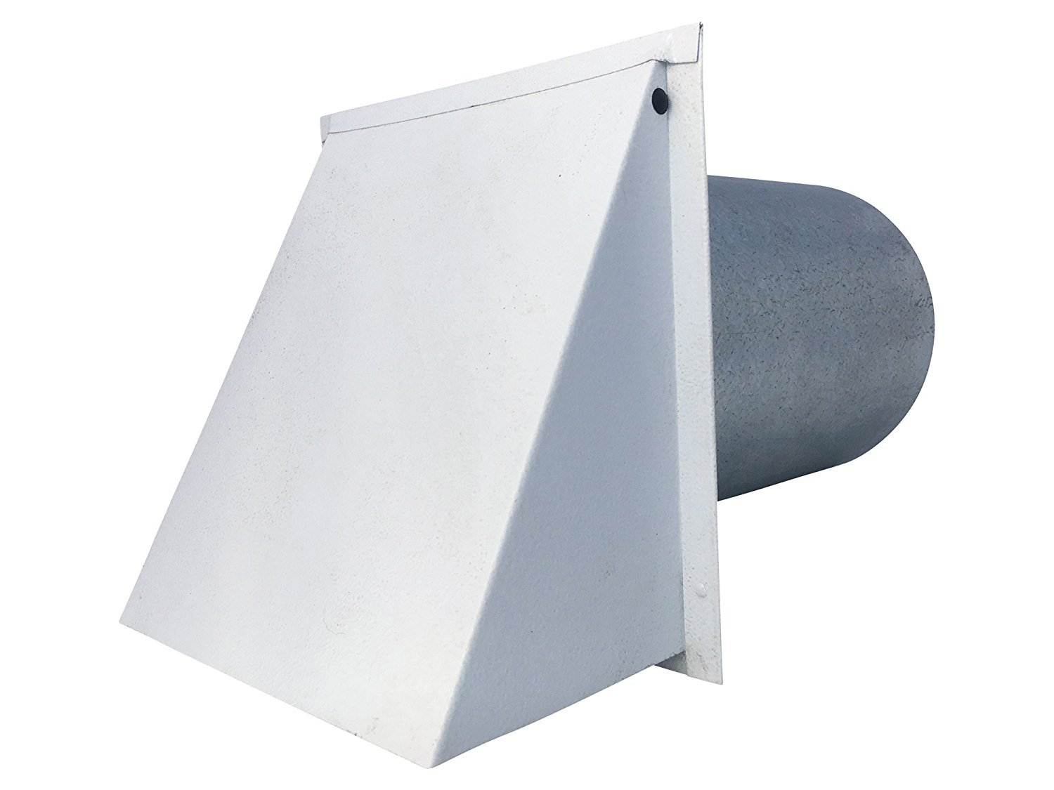 6 Inch Wall Vent Painted White Damper Only (6 Inch diameter) - Vent Works