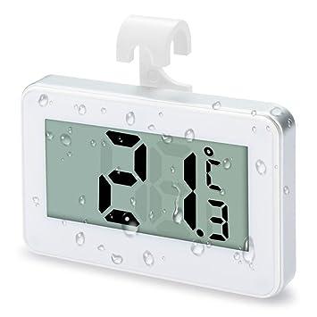Termometro Frigorifico, Termometro Nevera,Termómetro Digital Impermeable para Frigorífico y Congelador Termometro LCD -