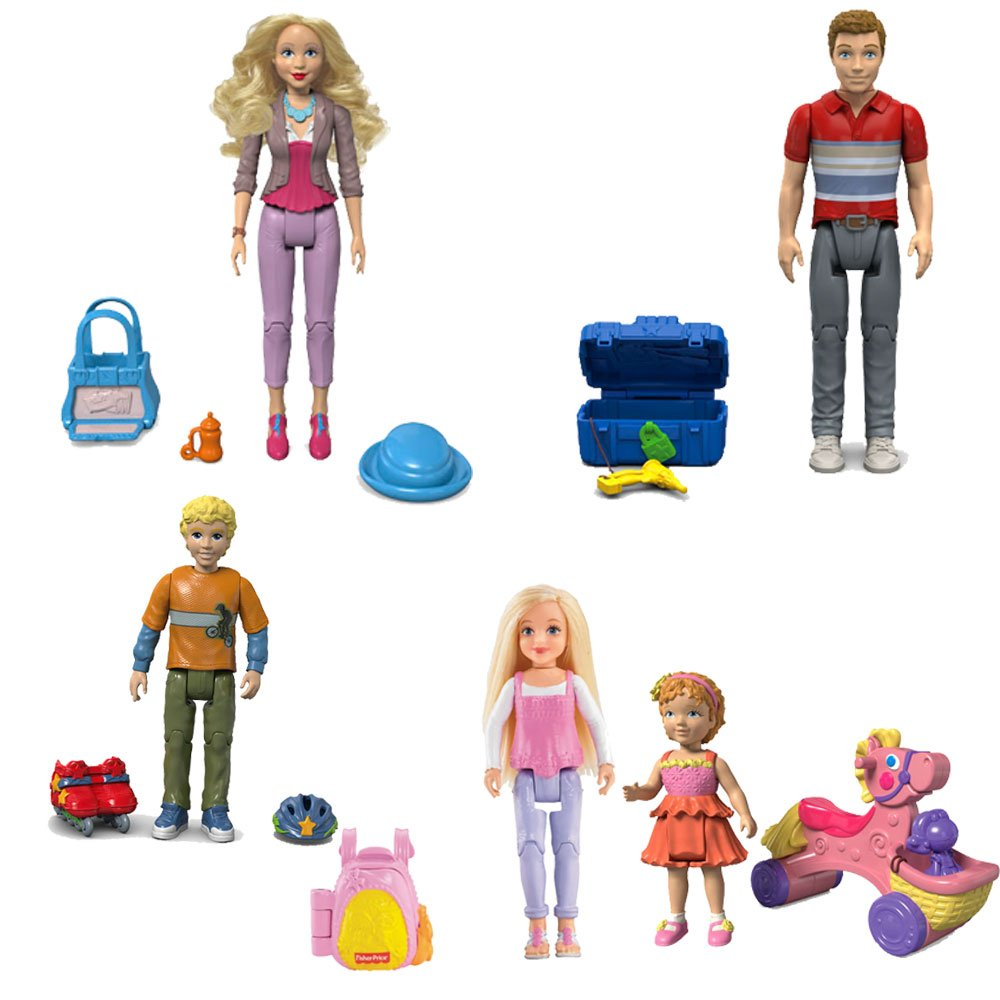 Fisher Price Loving Family Dollhouse Figure Set Set Set Dad,Mom,Brother,Sister and Toddler by Fisher-Price 3202e3
