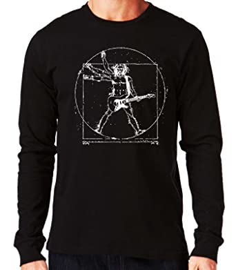 35mm - Camiseta Manga Larga Vitruvio Guitarra, Hombre: Amazon.es: Ropa y accesorios