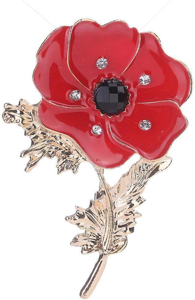 Gquan Mens Brooch Brooch Poppy Flower Brooch Fashion Drop Oil Flower Chest Decoration Lady Scarf Buckle Ornament