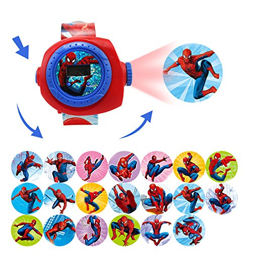 Gouptec Amazing Spider Man Figure Projection Watch Wristwatches Clock (Amazing Spider Man 2 Costume Pattern)