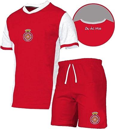 GIRONA FC Pijgir Pijama Corto, Unisex niños, Blanco, XS/14 ...