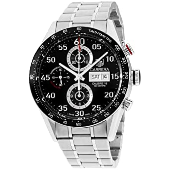 4a5e9f04014 Amazon.com: New Tag Heuer Carrera Day Date Mens Watch CV2A10.BA0796 ...