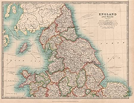 Map Of England Lincolnshire.Northern England Wales Yorkshire Ridings Lincolnshire Parts