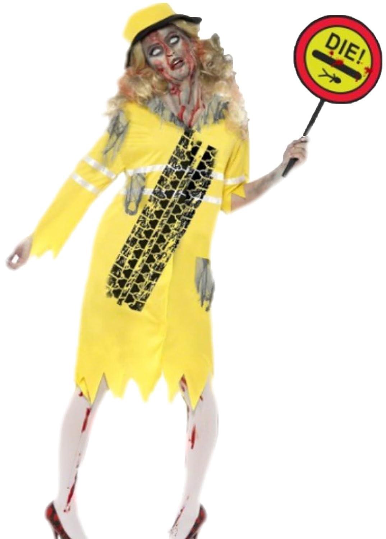 Fancy Ole - Damen Frauen Zombie Kostüm, Halloween, Halloween, Halloween, S, Gelb 66b97e