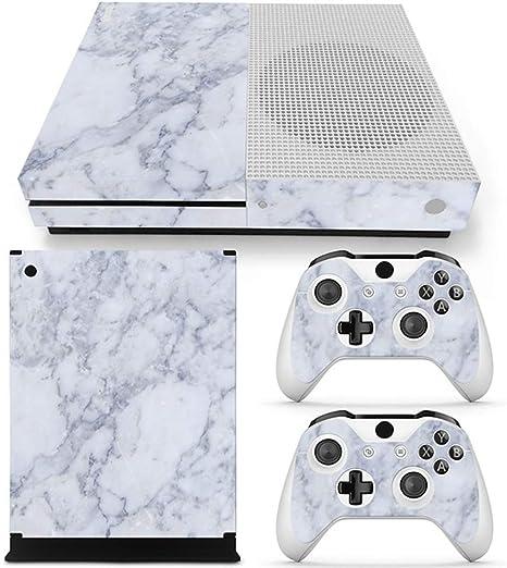 Sololife - Vinilo Adhesivo para Consola Xbox One S (diseño de Cuadros, no Apto para Xbox One), Color Azul: Amazon.es: Electrónica
