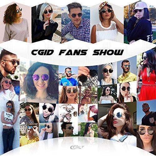 70e7d840ab CGID E01 Pequeño Estilo Vintage Retro Lennon inspirado círculo metálico  redondo gafas de sol polarizadas para hombres y mujeres: Amazon.es: Ropa y  ...