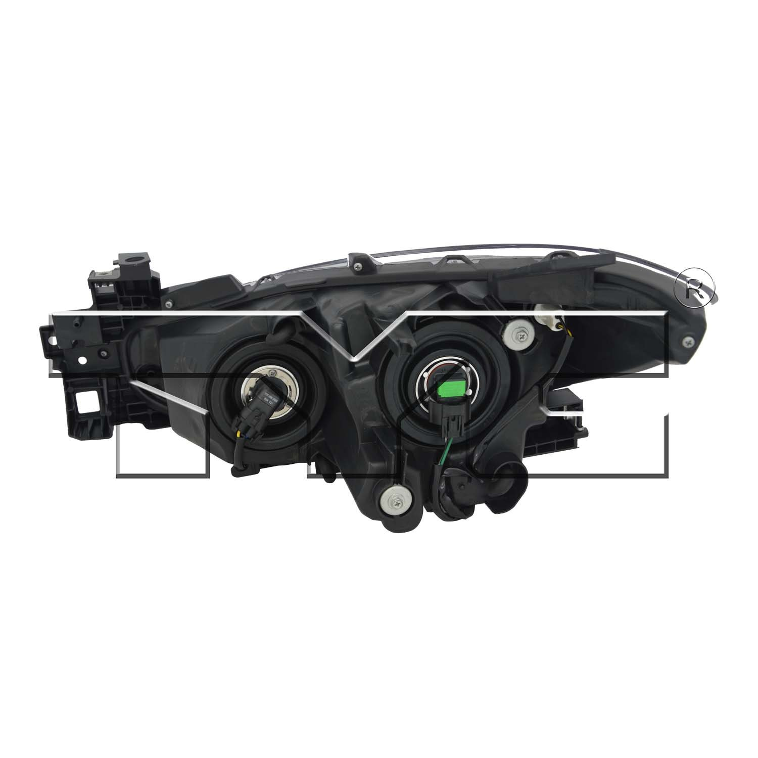 TYC 20-9523-00-1 Mazda 3 Right Replacement Head Lamp