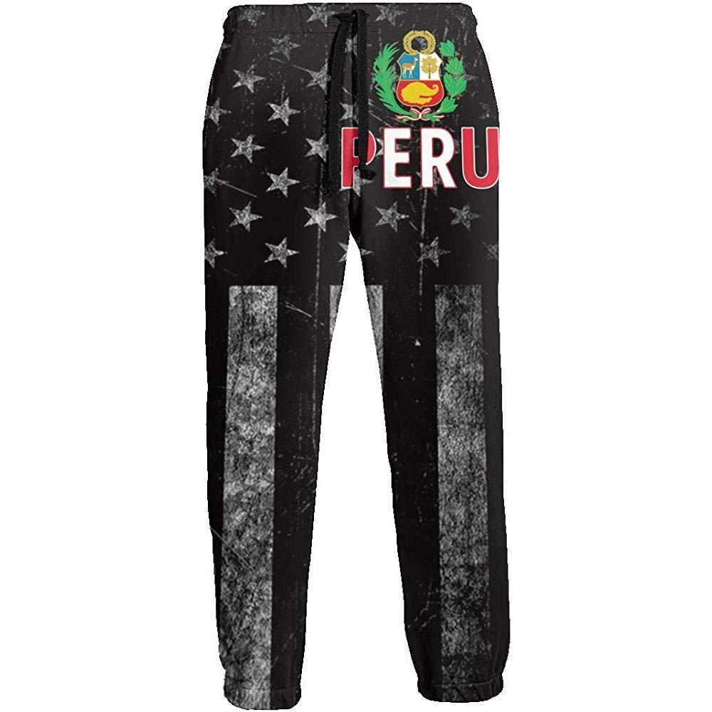 Bandera de EE. UU. Bandera de Perú Pantalones de chándal para ...