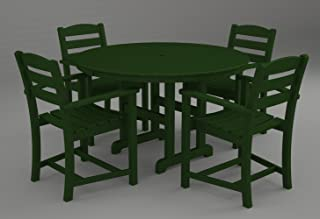 product image for POLYWOOD PWS100-1-GR La Casa Café 5-Pc. Dining Set, Green