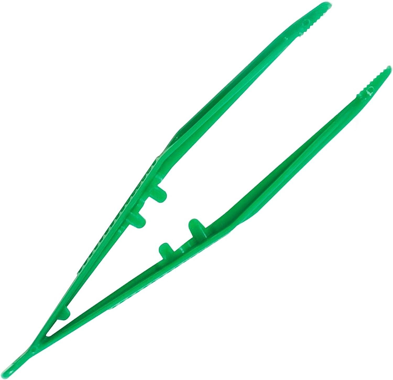 Pinzas desechables de plástico estériles verdes envueltas individualmente, 13cm, paquete de 20