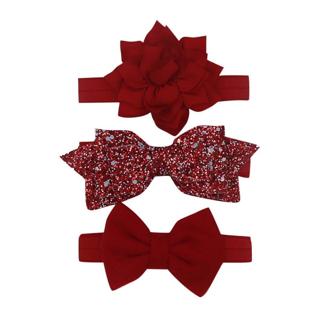 UEVOS Bandeau Serre-t/ête /à N/œud Multicolore Fleurs Haute Qualit/é /à Tricoter Papillon Lotus Chapeaux Accessoires Pour Cheveux Pour B/éb/és Coiffe Pour Fille