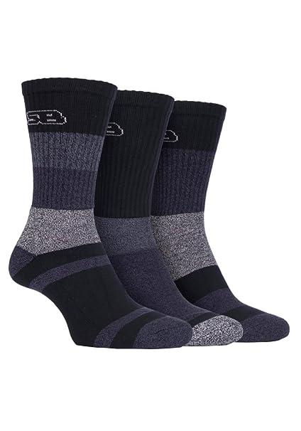 Storm Bloc - 3 pares mujer rayas algodon trekking senderismo calcetines para botas de agua (37-42 eur, SBLS002BLK): Amazon.es: Ropa y accesorios