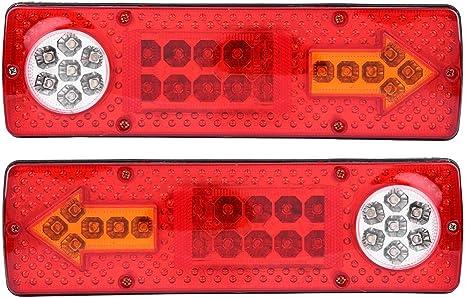 Aramox Feux arri/ères /à LED 12 V Voiture Camion Remorque Bateau Arri/ère Feu Arri/ère Frein Feu Clignotant T/émoin LED Feux Indicateur Arri/ère Frein Arri/ère Feu Clignotant