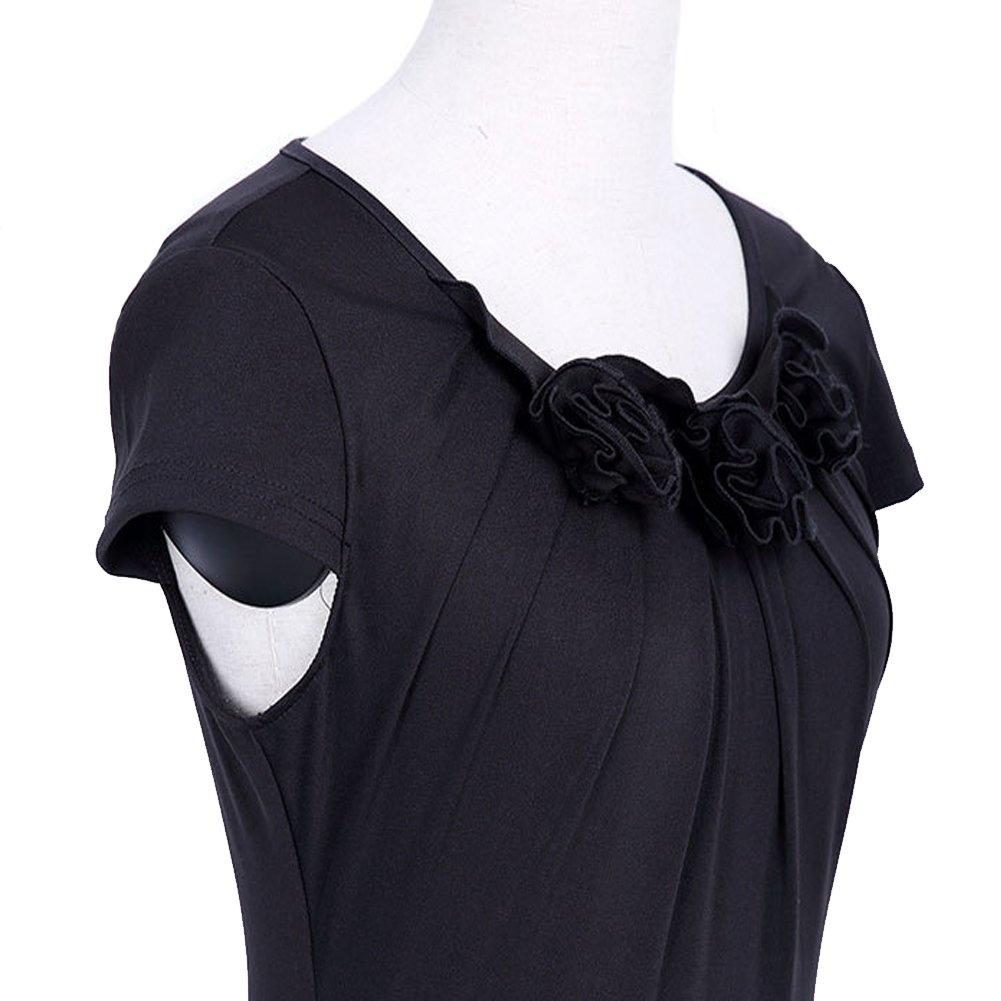 bankhunyabangyai store Black Elegant Celebrity Flower Mermaid Pencil Dress Bky8-038