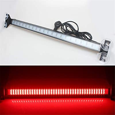 Clidr New Arrival 80 Led Strobe Light Windshield Car Flash Signal Emergency Warning Light Fireman Police Light Bar Beacon Car Truck Stroboscopes (red): Automotive