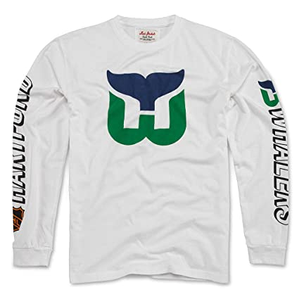 3870833fe Amazon.com   Red Jacket Hartford Whalers Throwback Long Sleeve T ...