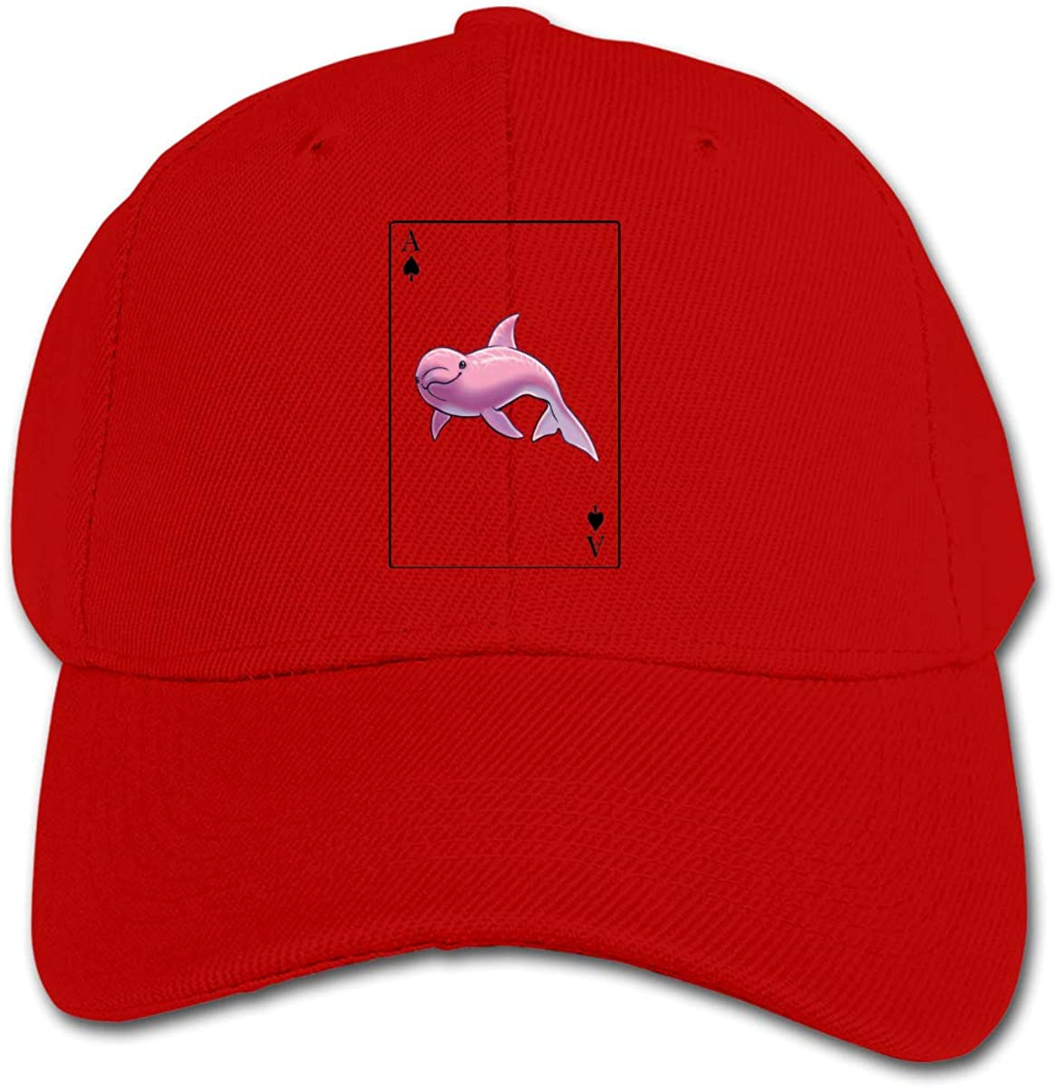 Dolphin Poker Kids Baseball Cap Hat Unisex Toddler Sun Hat Adsjutable Trucker Hat