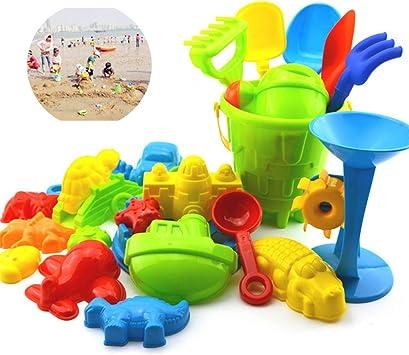 LAMEIDA Juguetes de Playa Juguete Cubo de Playa Arena Castillo Juego Coche para Niños Plástico 25 Piezas: Amazon.es: Juguetes y juegos