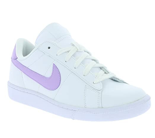 Nike womens tennis classic trainers 312498 sneakers shoes (US 7.5, white  urban lilac 134