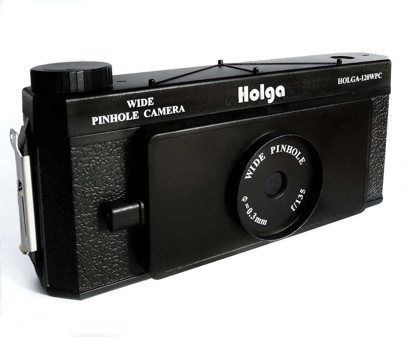 Holga 120 WPC Panoramic Pin Hole Camera Wide Format Film Lomo Camera Black (Renewed) by Holga