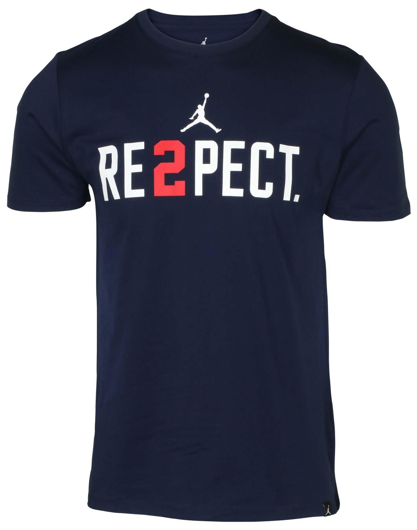 NIKE Jordan Men's Jeter Re2pect Training T-Shirt-Navy-Medium