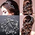 Wedding Headband Hair Vine Headdress Bridal Hair Vine Pearl Crystals Rhinestone Headpiece Party Jewelry 0.5m?19.7 inch?
