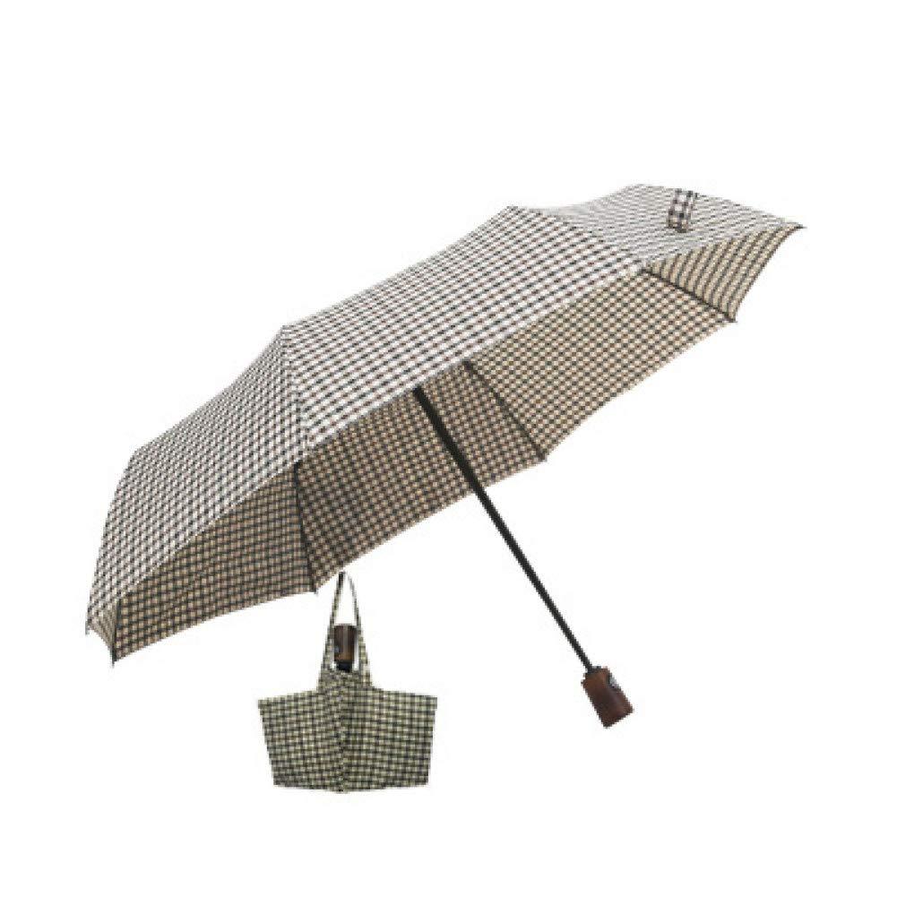 E  YZMBYUSAN Parapluie Résistant Au Vent Trois Pliant Sac à Main Parapluie Pluie Femmes Auto De Grand Coupe-Vent Parapluies Hommes Cadre Coupe-Vent