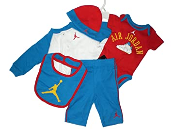 f77c7ef8a01e Image Unavailable. Image not available for. Color: Nike Air Jordan 5 Piece  Infant Baby Set ...