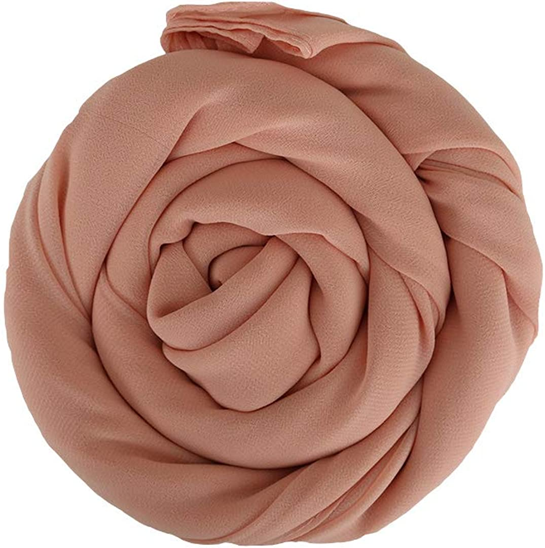 MR Modesty Room Chiffon Hijab Kopftuch in Pfirsich Hidschab Schal Schaltuch Haartuch F/ür Muslimische Frauen Islamische Kopfbedeckung Stirnband Daily Bandana Turbanm/ütze Headwrap
