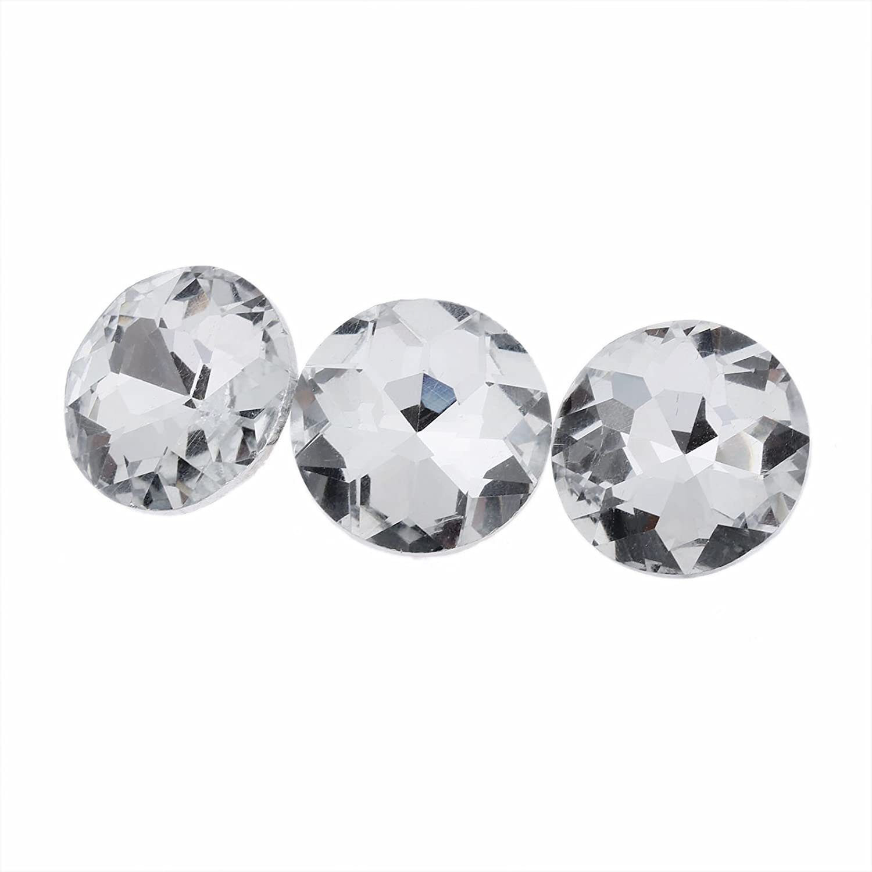 20pcs Diamond Crystal Upholstery Sofa Headboard Sew Buttons Wall Decor 25mm Dia