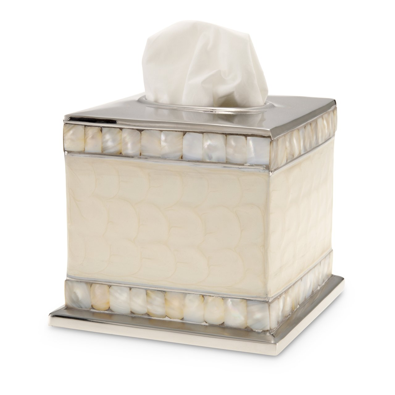 Julia Knight Classic 5'' Tissue Cover Bath Collection, One Size, Snow