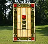 20'' x 34'' Large Tiffany Style stained glass window panel Rose