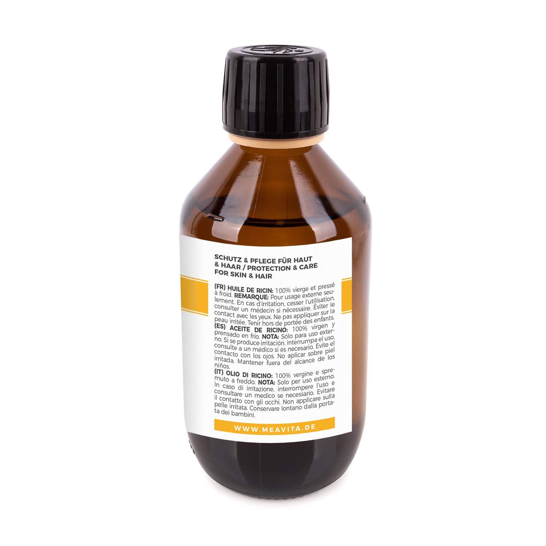 MeaVita aceite de ricino - puro, natural, vegano, sin hexano, no OGM, 1-Pack (1 x 250 ml): Amazon.es: Salud y cuidado personal