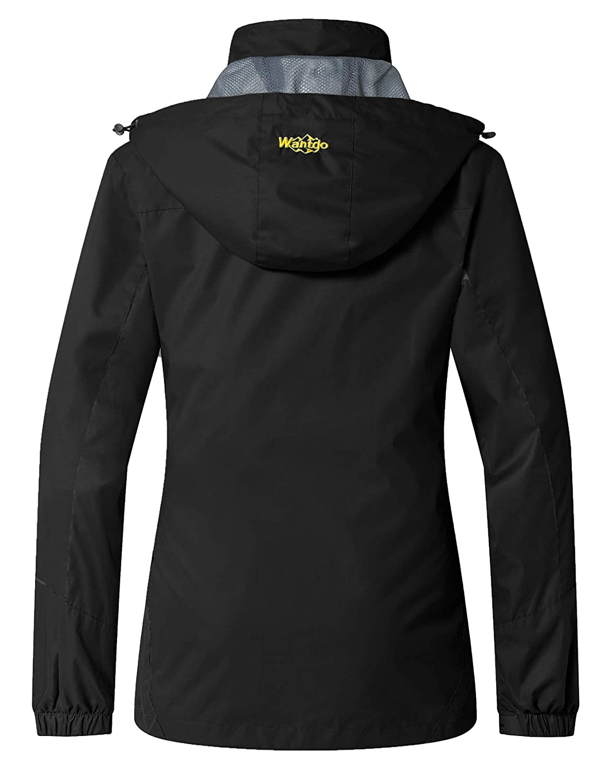 Wantdo Women s Waterproof Rain Jacket Breathable Hiking Coat Mountain Rain  Wear Hooded Windbreaker Insulated Sportswear at Amazon Women s Coats Shop 48257799ff63