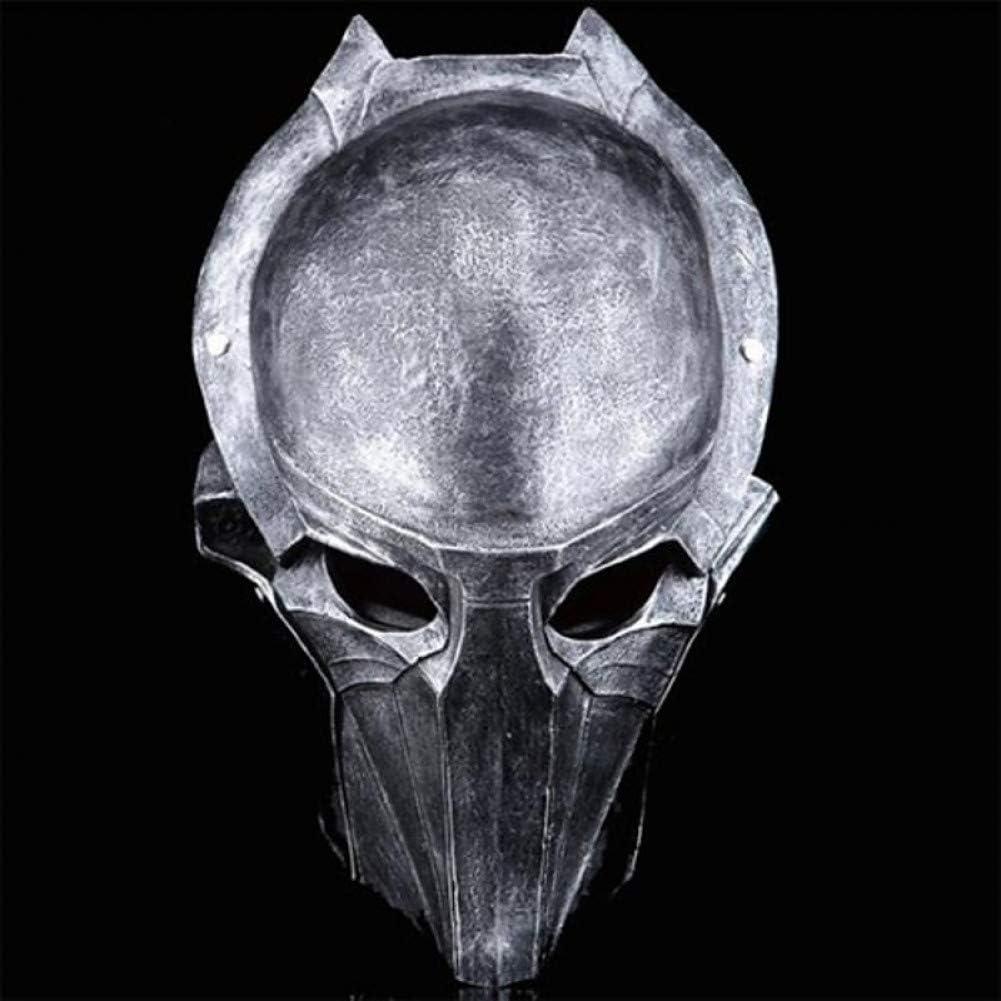 RCFRGV Máscara Halloween Máscara de Resina de Superficie de águila guerrera de Hierro para la Fiesta de Halloween (Plateado y marrón)