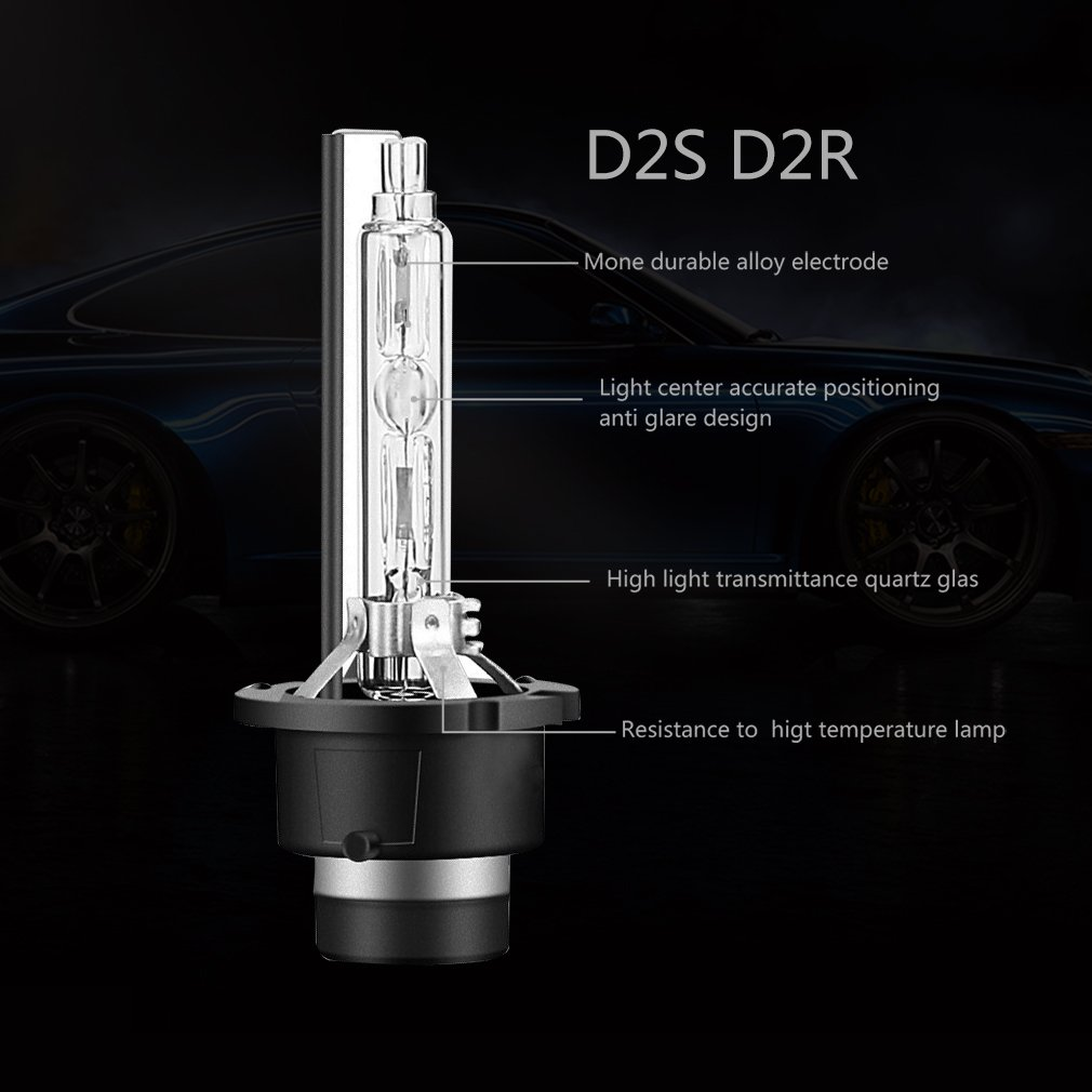 4300K Yellow//White Carrep 35W Per Bulb D2S D2C D2R OEM HID Xenon Headlight Replacement for Philips or OSRAM Bulbs