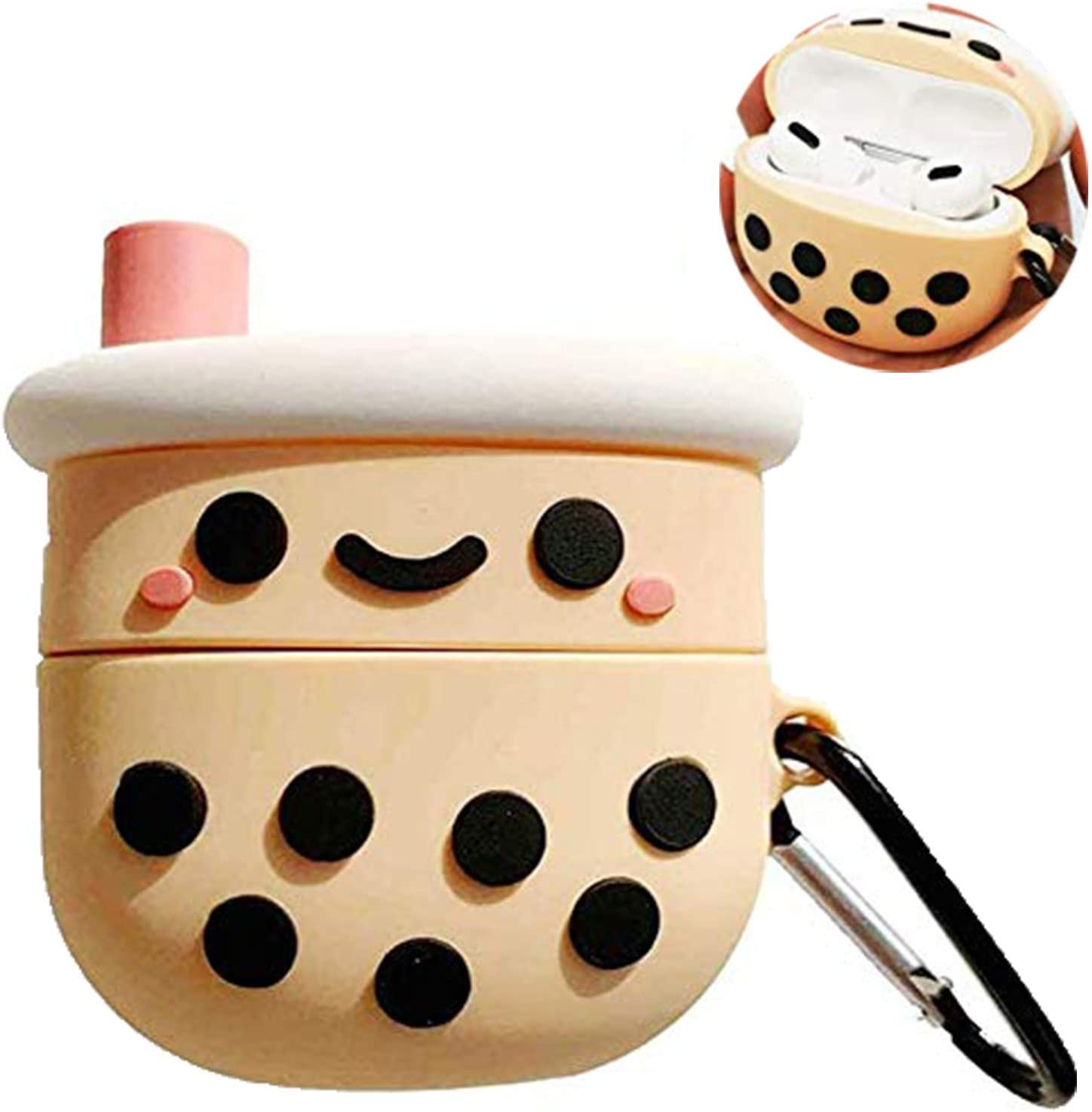 Handmade Case Nice Gift For Her  Him With Keychain For AirPods 1/&2 And Airpods Pro Cute Morandi Cat Design Soft Silicone Protective Case