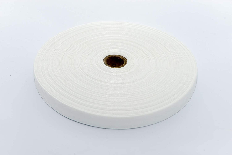 MB K/öperband Polyester Bandbreite 20 mm Bandfarbe wei/ß Rolle 100 lfm.