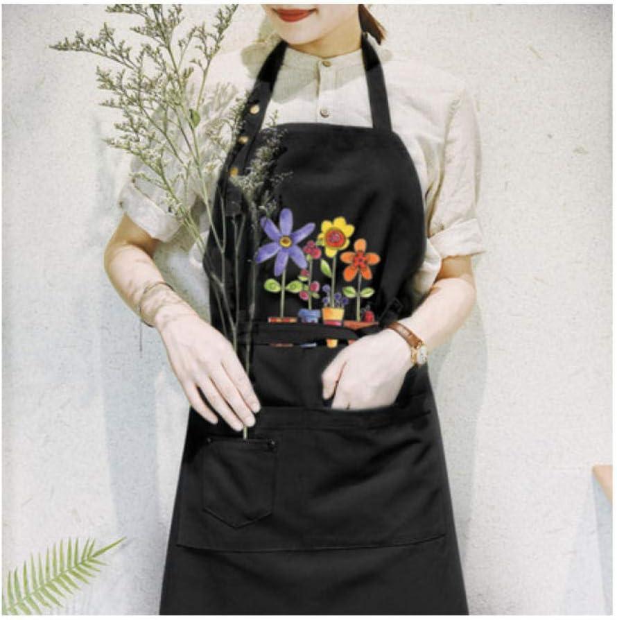 no brand Tablier Cr/éatif Th/é Boutique Coton Manucure Salopette Femme /Étanche Cuisine Fleuriste Tablier-D6