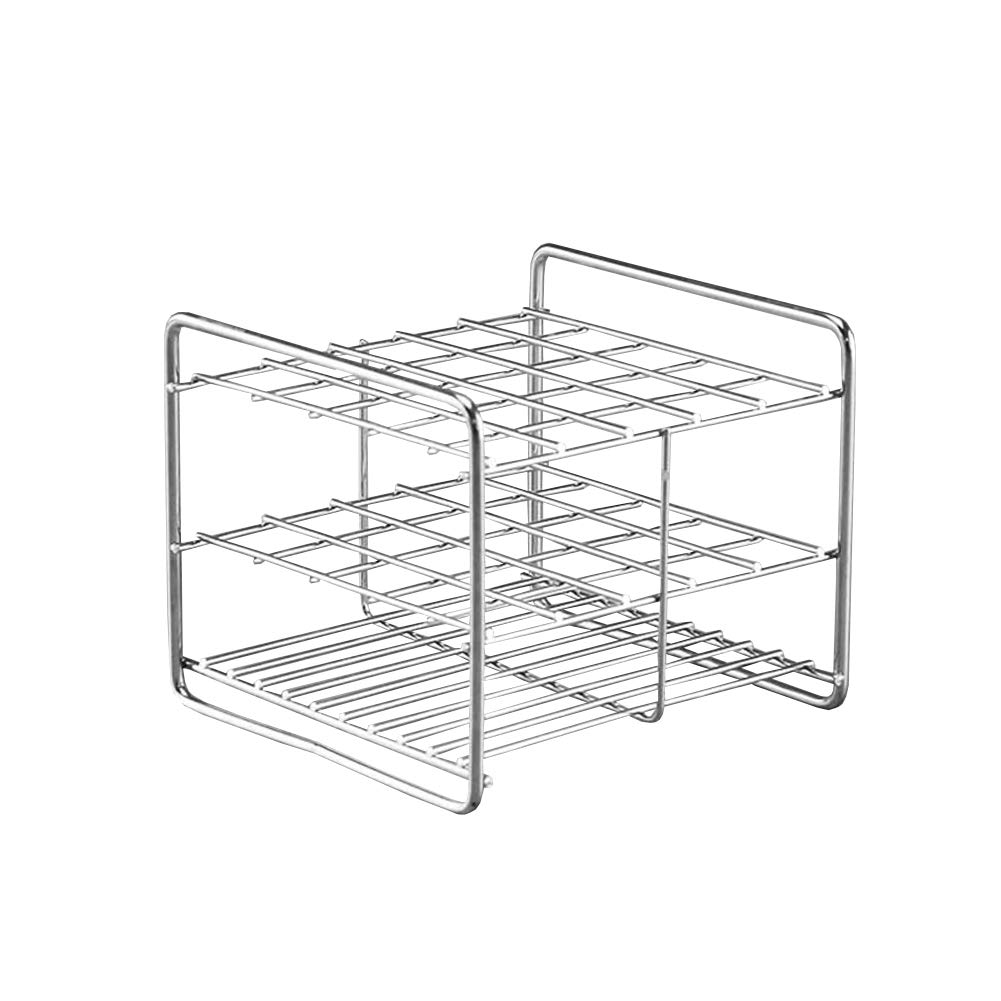 Stainless Steel Test Tube Rack,25 Holes,Outer Diameter Permitted of Tubes 17-19mm,Wire Constructed, 5x5 Format,Adamas-Beta by Adamas-Beta
