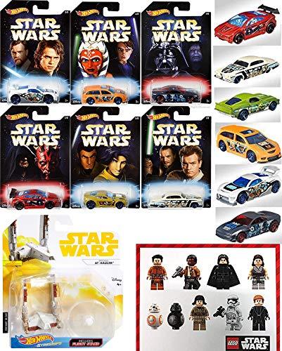 Wars Hot Wheels Master & Apprentice Exclusive Set Pack 6 Car Darth/ Starship / Darth Vader / Maul + Battle Play Action ()