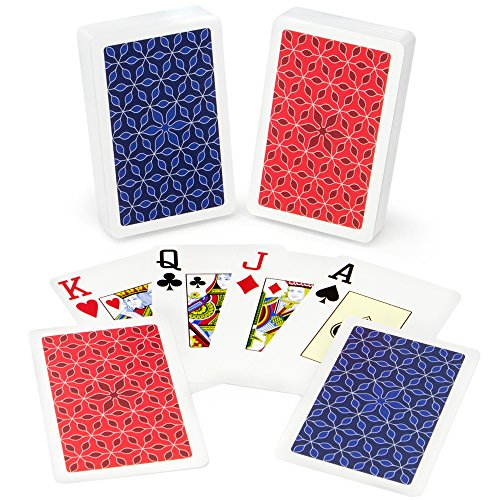 Copag Class Vanguard 100% Plastic Playing Cards, Bridge Size, Jumbo Index by Copag