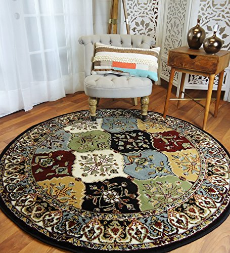 Round Rugs 6ft Multi-Color Rug Circle Rugs for Living Room and Dining Room Rugs Clearance 5×5 ft Review