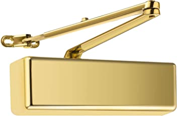 Door Closer Surface Mounted Polished Brass